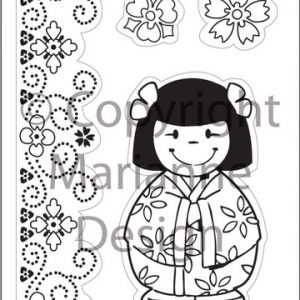 timbri-silicone-clear-stamp-marianne-design-elines-folklore-oriental-doll