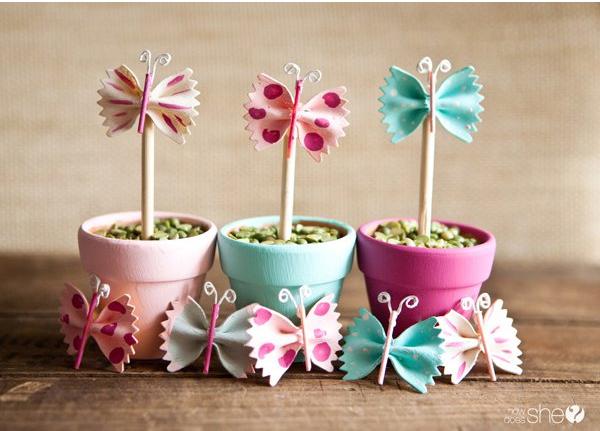 vaso fiore farfalla creative idea