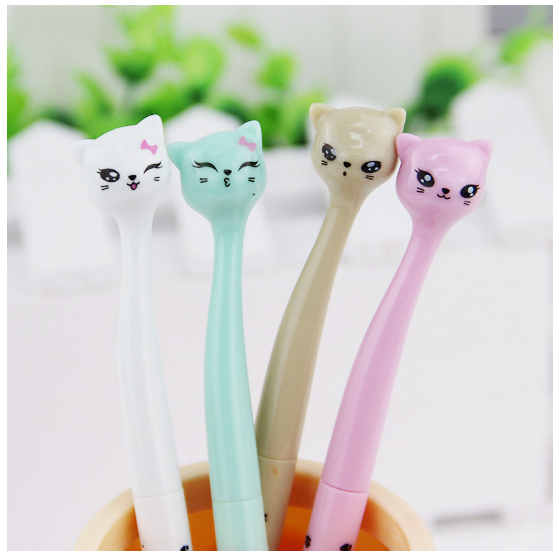 penna gel kawaii gatto