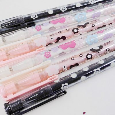 penna gel kawaii fiori