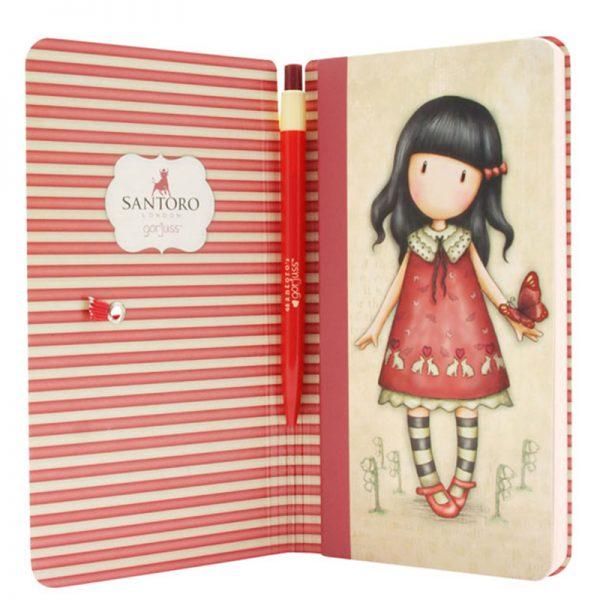 Quaderno con penna Santoro Gorjuss