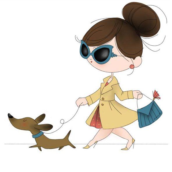 Le Pupette con cane bassotto