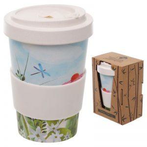 Tazza Mug bamboo travel cup giardino botanico fiori