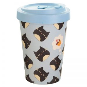 Bambu tazza mug termica eco friendly gatto cat