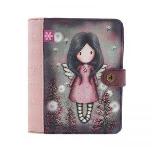 1036gj02-organiser-little-wings-santoro-gorjuss-bimba-bambina-angelo-ali-rosa-fiore-fiori-notebook