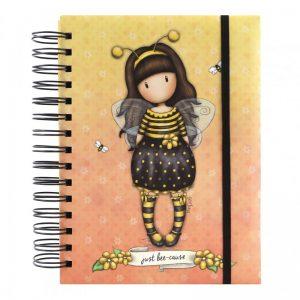 201gj08-notebook-organizer-journal-bee-loved-just-bee-cause-giallo-gorjuss-santoro-london-ape-bimba-bambina-spirale-quaderno