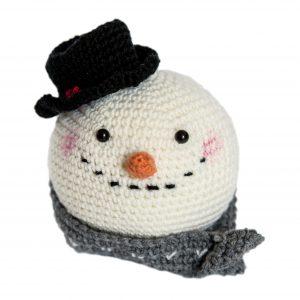 Pupazzo di Neve Snow Man Amigurumi istruzioni schema pattern uncinetto crochet croche