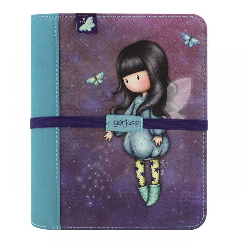 256GJ04-Gorjuss-Travel-Journal-Bubble-Fairy-viaggio-bambina-bimba-angelo-rosa-viola-planner-diario-diary-storage-azzurro-blu-farfalla-farfalle
