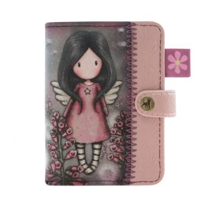 583GJ10-Gorjuss-Card-Holder-Little-Wings-bimba-bambina-foglie-angelo-rosa-viola-fiore-fiori-ali