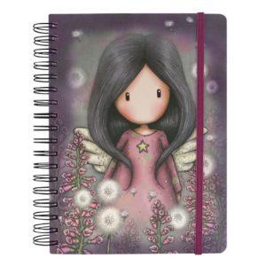 767gj04-spiral-santoro-gorjuss-little-wings-normal-angelo-bimba-bambina-fogli-foglio-anelle-quaderno-quadernone-cancelleria-angelo-viola-rosa-little-wings-notebook-organizer