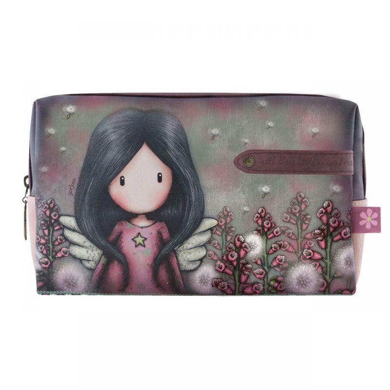 892GJ05-Gorjuss-pochette-make-up-trucco-angelo-ali-accessori-busta-fiori-Large-Accessory-Case-Little-Wings-bimba-bambina-rosa-viola-borsellino-borsa-borsello