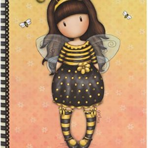 notebook-organizer-journal-bee-loved-just-bee-cause-giallo-gorjuss-santoro-london-ape-bimba-bambina-spirale-quaderno-314GJ33
