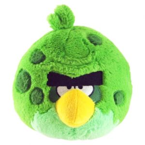 peluche-pupazzo-pupazzetto-animaletto-angry-birds-space-verde-green-uccellino-soffice-92570