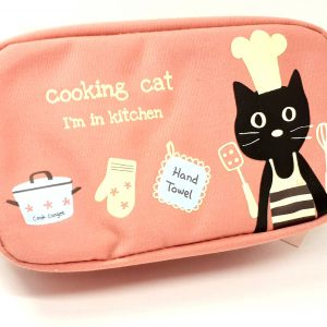 astuccio-astuccino-borsellino-borsello-porta-pencil-case-biro-cats-garden-cooking-kitchen-cucina-gatti-gatto-rosa-zip-tk12-785