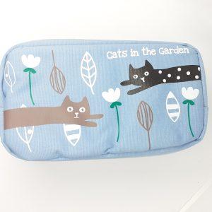 astuccio-astuccino-borsellino-borsello-porta-pencil-case-biro-cats-garden-gatti-gatto-azzurro-zip-tk12-785