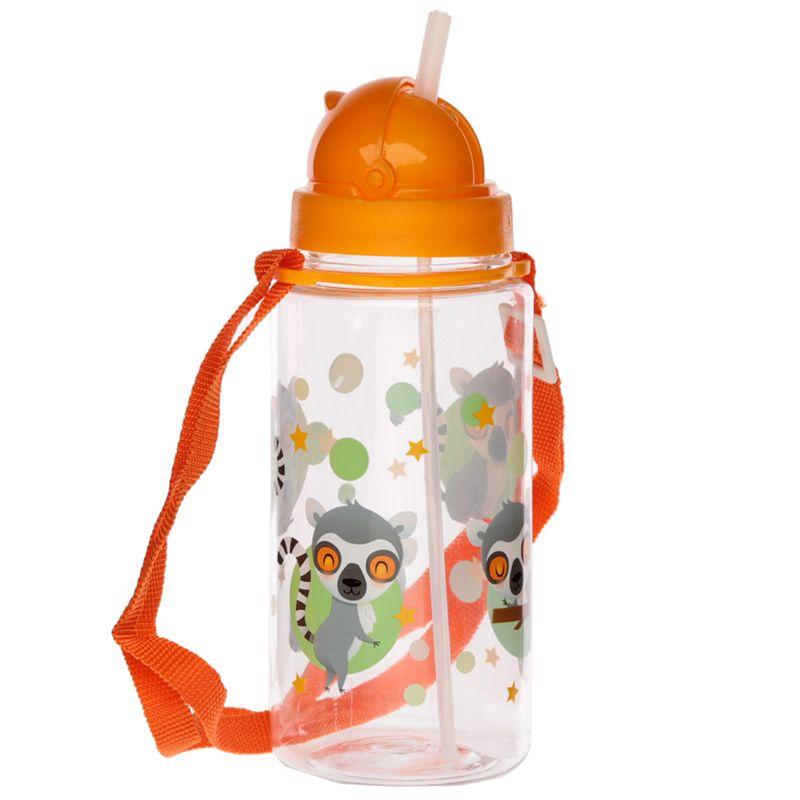 borraccia-bottiglia-bot-trasparente-bottle-trasparente-lemure-animali-animals-green-verde-bot57