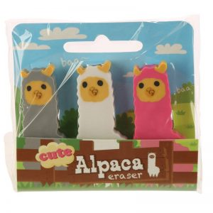 gomme-gomma-cancellare-rubber-pencil-animali-alpaca-animals-animal-eraser-erase-sta72