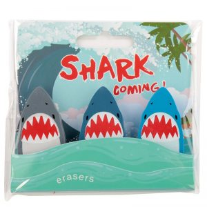 gomme-gomma-cancellare-rubber-pencil-animali-squalo-shark-sea-mare-animals-animal-eraser-erase-sta88