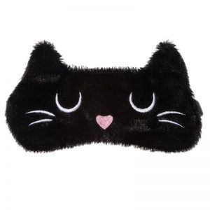 maschera-mascherina-dormire-sonno-notte-occhi-cutie-eyemask-eye-gatto-cat-nero-black-feline-fine-epp14