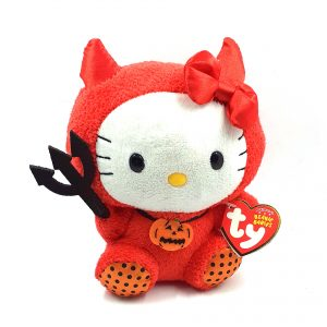peluche-hello-kitty-beanie-pupazzo-pupazzetto-rosso-soffice