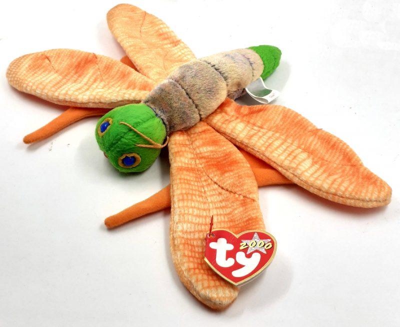 peluche-pupazzo-animaletto-animale-animals-pupazzetto-libellula-soffice-arancione-ty