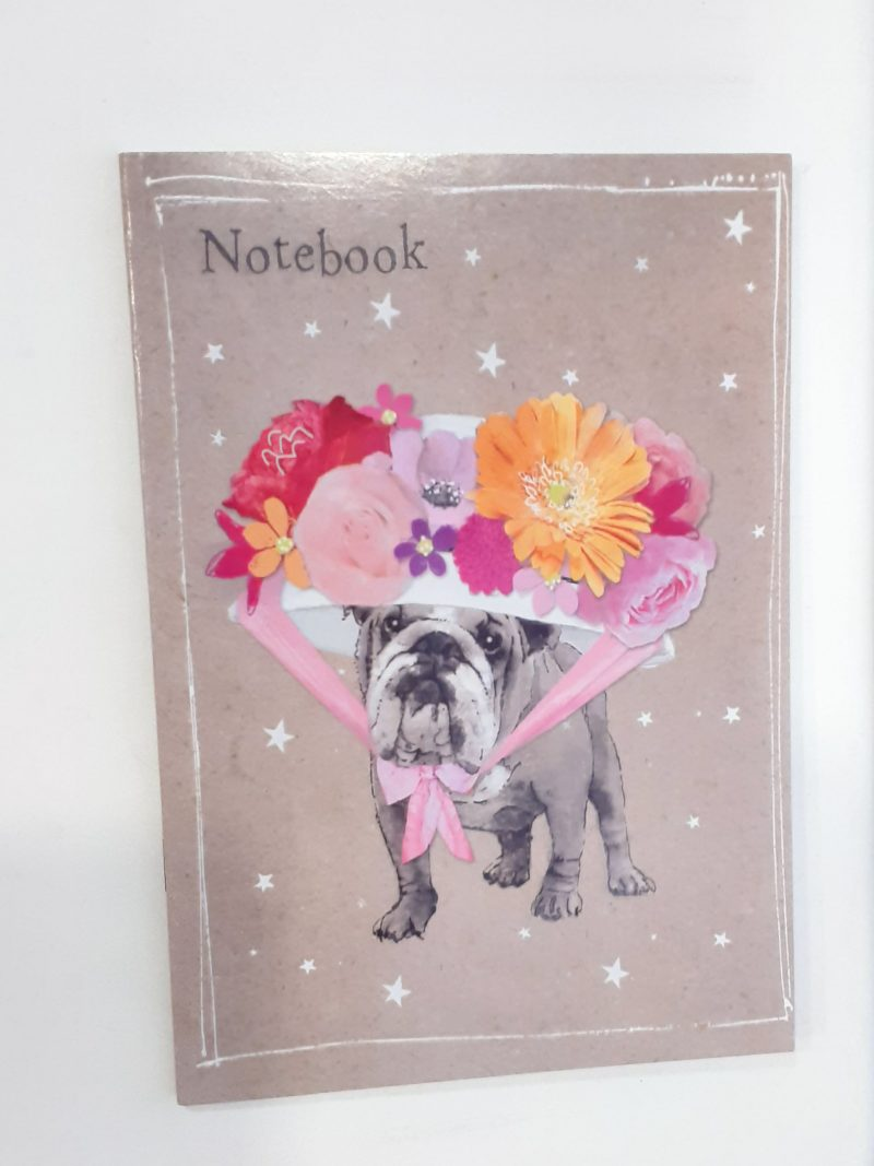 quaderno-quadernino-appunti-notebook-notes-happy-shop-animals-animali-animale-cagnolino-cagnolini-cani-cane-dog-dogs-fiore-fiori-flowers