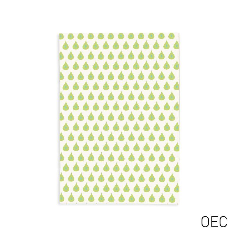 quaderno-quadernino-appunti-notebook-notes-happy-shop-verde-green-carta-goffrata-eco-ecoivory-spillato