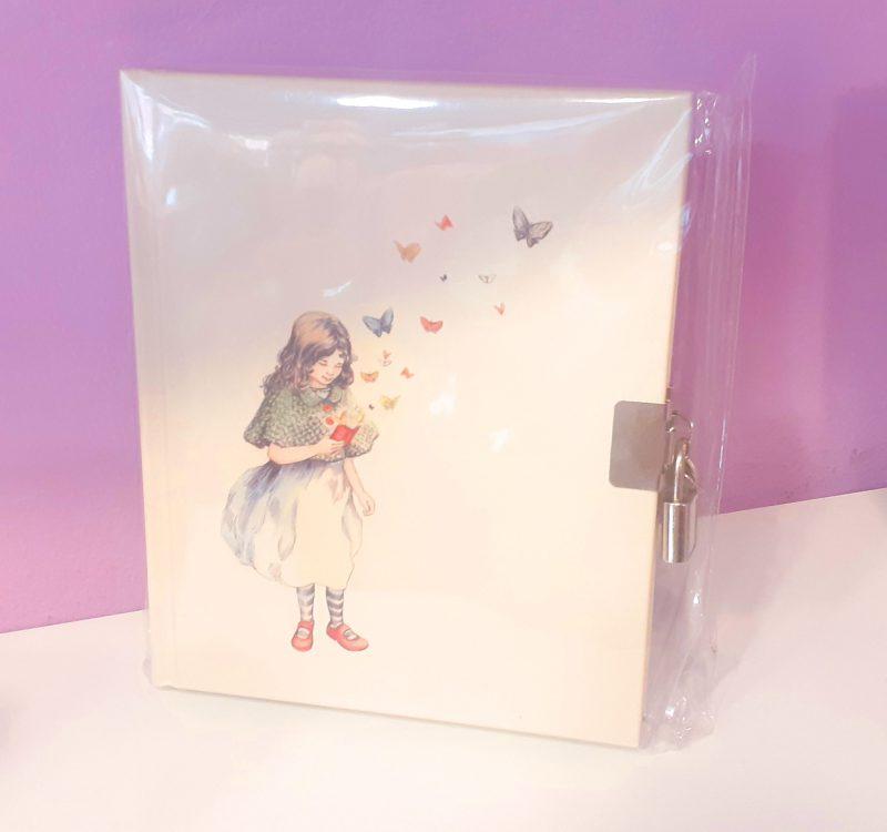 quaderno-rigido-diario-notebook-notes-happy-shop-lockable-ragazza-girl-farfalla-farfalle-chiusura-chiave-quadernino-appunti