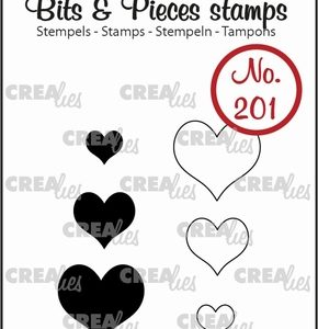 timbri-silicone-clear-stamp-crealies-bit-and-pieces-hearts-cuori