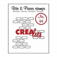 timbri-silicone-clear-stamp-crealies-bits-pieces-3x-open-bricks-medium-mattoni