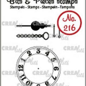 timbri-silicone-clear-stamp-crealies-bits-pieces-clock-chain-pendulum-orologio-catena-pendolo-lancette