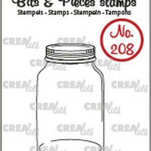timbri-silicone-clear-stamp-crealies-bits-pieces-mason-jar-barattolo-di-vetro