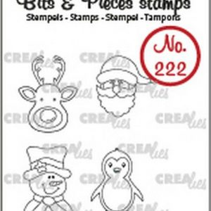 timbri-silicone-clear-stamp-crealies-bits-pieces-mini-reindeer-santa-claus-snowman-penguin-mini-renna-babbo-natale-pupazzo-di-neve-pinguino-christmas-natale
