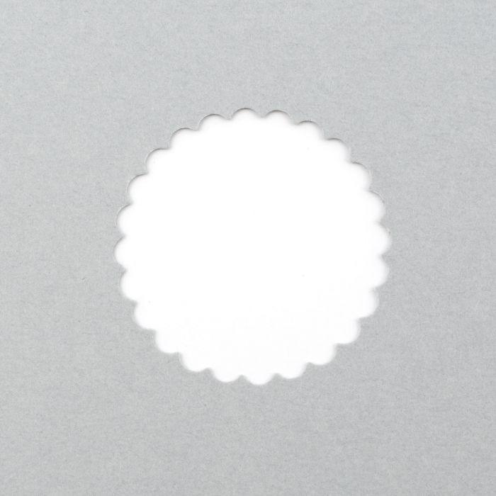 Foro del foglio a forma di cerchio a fiore