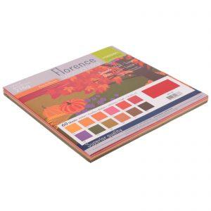 Carta Blocco cartoncini scrap scrapbooking tonalità rosso autunno