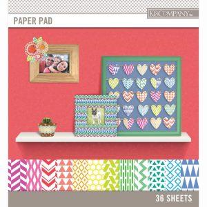 Blocco carte colori geometrici per scrapbook