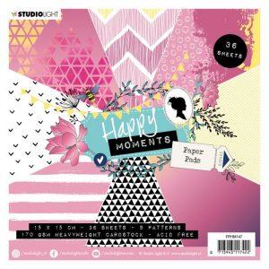 carta-carte-blocco-paper-scrap-scrapbooking-scrapbook-biglietti-explosion-box-creativa-diy-idee-happy-moments-rosa-fucsia