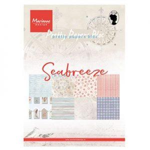 Blocco carte scrap fantasie marine con conchiglie