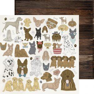 Cartoncini sui cani per scrap booking