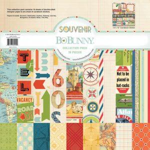 Cartoncini di souvenir per viaggi per scrap booking