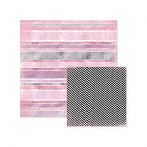 Carte Scrap Righe Rosa Colori Pastello