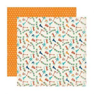 Carte Scrap Veicoli Colorati e Stelle Gialle Sfondo Arancione