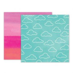 Carte Scrap Nuvole Cielo Azzurro