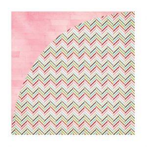 Carte Scrap Zig Zag Multicolore e Pittura Rosa