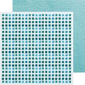 Carte Scrap Grid Sfumature Blu