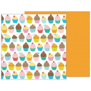 Carte Scrap Muffin Colorati e Grid Arancione