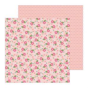 Carte Scrap Fiori Rosa Primavera e Pois Rosa