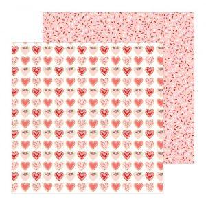 Carte Scrap Cuori Disegnati Nuance Rosa