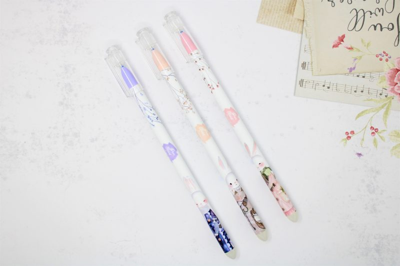 Penne Pen Cancellabili Conigli e Fiori