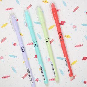 Penne Pen Cancellabili Espressioni Animaletti Colorati